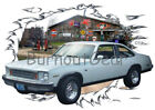 1975 White Chevy Nova Custom Hot Rod Garage T-Shirt 75 Muscle Car Tees