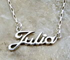 Sterling Silver Name Necklace - Julia -on Drawn Box Chain -1048