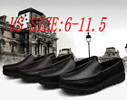 NEW men's Breathable casual real leather shoes Moccasin Slip On Loafers 5-12