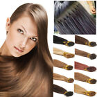 """UK Pre-bonded I Tip Stick Russian Human Remy Hair Extensions Keratin 22"""" GY790"""