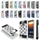 For ZTE Max XL N9560 Anti Shock Studded Sparkle HYBRID Phone Case Cover + Pen