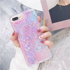 iphone 5 phone cases - Bling Glitter Liquid Gel Soft Phone Case Cover For Apple iPhone 5 6 6s 7 8 Plus