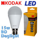 1X 2X 4X 10X 15W KODAK LED BC BULB DAYLIGHT 6000K DAY LIGHT LARGE BAYONET NEW