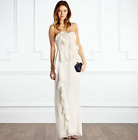 Coast Tuberose Frill Cocktail Occasion Prom Bridal Wedding Party Dress 6 - 18