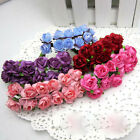 144PCS Wedding Party Home Decor Craft Artificial Paper Rose Bud Flower US Stock