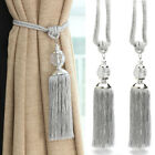 Pair Of Curtain Holdbacks Rope Tie Backs Tassel Tiebacks Crystal Pearl Ball Home