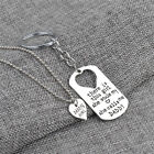 Fashion Silver Family Love Heart Chain Necklace Pendant Jewelry Mom Daddy Gifts