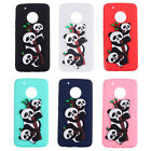 For MOTO G5/ E4/ C Plus Cute 3D Pandas Girls Ladies Candy Soft TPU Cover Case