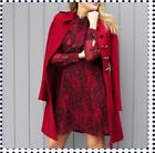 Karen Millen CZ037 Parade Military Trench Wool Ladylike Winter Coat 6 - 14 New