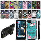 "For Google Pixel 2 XL 6"" 2017 Hybrid Heavy Duty Kickstand Phone Case Cover + Pen"