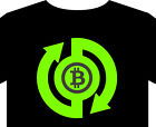 Bitcoin T shirt P2P cryptocurrency blockchain digital coin mine server alogrithm
