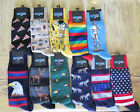MENS HOT SOX Sz 10-13 Socks Eagle Wolf Duck Rainbow Vote Pizza Coffee U Pic SALE