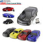 Xmas Gift Portable Cordless 2.4Ghz Wireless Optical Car Mouse Mice USB Dongle US