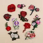 2PC Rose Flower Embroidery Sew On Patch Badge Bag Hat Jeans Dress Applique Craft