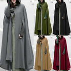ZANZEA Women Trench Coat Open Front Cardigan Jacket Coat Cape Cloak Poncho Plus
