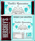QUINCEANERA PARTY FAVORS CANDY BAR HERSHEY BAR WRAPPERS TEAL TURQUOISE