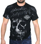 Harley-Davidson Mens Unleashed Thunder Skull Black Short Sleeve Biker T-Shirt $19.99 USD