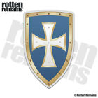 Knights Templar Blue Shield Decal Cross Crusader Gloss Sticker V3 HVG