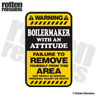 Boilermaker Warning Yellow Decal Hard Hat Window Gloss Sticker HVG