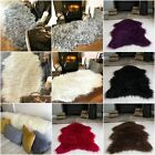 Fluffy Thick Modern Faux Fur Fake Non Slip Rubber Single Double Sheepskin Rug UK