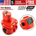 For Battery Makita 12V Drill 2.0Ah NI-MH 1220 6227D 6317D 1222 1230 1233 10Cell