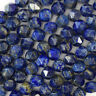 "Natural Star Cut Faceted Blue Lapis Lazuli Round Beads 15.5"" Strand 6mm 8mm 10mm"