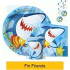 FIN FRIENDS Party  (Tableware, Balloons and Decorations) (1C)