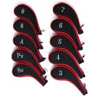 Neoprene Zippered Golf Club Iron Covers 10 PCS 3-9 Iron A SW PW Head Cover Set
