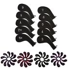 Golf Head Iron Cover Set 10 Piece 3 - 9 Iron Plus SW PW Universal Iron Covers