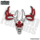 Buck Deer Skull Decal Canadian Flag Hunting Canada Gloss Sticker HVG