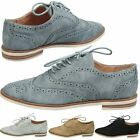 WOMENS SHOES LADIES LACE UP FLATS BROGUES LOAFERS WORK SCHOOL OFFICE SIZE NEW
