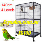 Ferret Bird Cage 4 Level Cat Hamster Rat Budgie Pet Aviary With Wheels