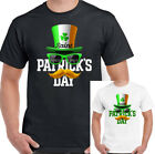 Irish Top Hat Flag Mens Funny St Patricks Day T-Shirt Ireland Paddys Drunk Rugby