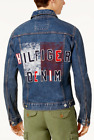 Tommy Hilfiger Men's Medium Wash Blue Graphic Print Denim Jacket