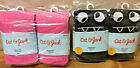 2 PAIRS OF TODDLER GIRLS SWEATER TIGHTS OPAQUE MID RISE CAT & JACK BLACK / PINK