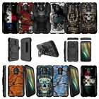 For Motorola Moto E 3rd Generation XT1700 Dual Layer Clip Case Stand - Tough Art