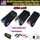 LCD 600A Peak 18000mAh Car Jump Starter 3 USB Battery Booster Charger Power Bank