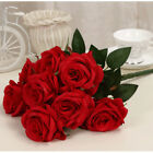 7 Colors Real Touch Simulat Rose Flowers Wedding Bouquet  Home Decoration New