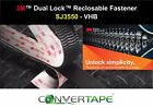 3M™ Dual Lock™ SJ3550 Reclosable Fastener Heavy Duty VHB Adhesive BLACK 25mm