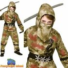 ZOMBIE BLOODY NINJA ASSASIN FIGHTER HALLOWEEN Childs Boys Fancy Dress Costume