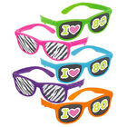 'I Love the 80s' Bright Neon Sunglasses Various Colours