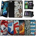 "For Apple iPhone 7 Plus (5.5"") Wallet Case Wrist Strap Slots - Animal Designs"