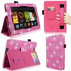 For Amazon Kindle Fire HD 7 2013 Hand Strap Card Holder Leather Smart Stand Case