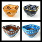 """Your Choice - One Handmade Mexico Pottery Dip Bowl - 4.5"""" Wide Microwave Safe"""