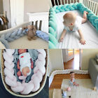 baby cots adelaide - US 100CM Baby Infant Plush Crib Bumper Bed Bedding Cot Braid Pillow Protector