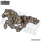 Camo Horse Decal Hunting Camouflage Pony Mustang Gloss Sticker (LH) HGV