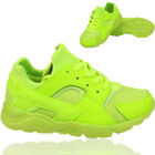 BOYS GIRLS SPORTS TRAINER RUNNING LACE UP CAUSAL SHOCK ABSORBING SHOES SIZE UK