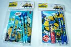 Despicable me Minions Stationery Gift Set Pen Pencil Notebook Ruler Eraser Lead