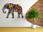 Colorful Animal Elephant Wall Sticker Vinyl Decal Art Mural Home Decor Vintage