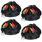 4 Pack HD Security Camera Audio Video Power AV Cable Extension CCTV RCA BNC Wire